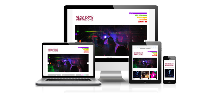 Genio Sound sito web responsive